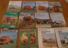 12 Hay Balers Advertising Brochures AVCO /  NEW IDEA farming / agriculture