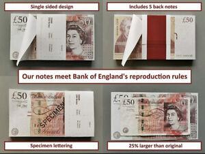 20 x £50 GBP FAKE MONEY