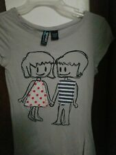 Boy And Girl Holding Hands Juniors Tshirt