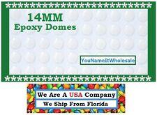 60) 14MM Crystal Clear Epoxy Sticker Create Pendant Earrings Bracelet Epoxy Dome