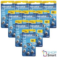 60 RENATA HEARING AID BATTERIES SIZE 10 PR70 1.45V ZINC AIR NO MERCURY 2022 NEW