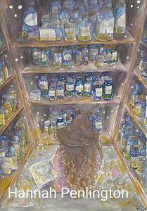 Print by Hannah Penlington, making dreams, children art, fantasy story painting