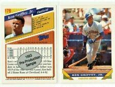 (2-card lot) 1993 Topps Pre-Production Sample KEN GRIFFEY JR #179   [Mint]