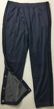 Adidas Men's Id Track Snap Button Sweat Pants Blue Br3285 Size Xl
