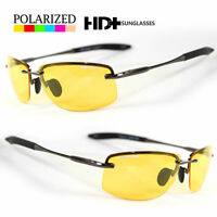 SPORT WRAP AR HD NIGHT DRIVING VISION SUNGLASSES YELLOW HIGH DEFINITION GLASSES