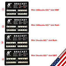 New Listing20 Dental Orthodontic Brackets Braces Mini Rothmbt Slot022 3453 Hooks Metal