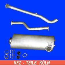 VW LT 28 / 28-35 / 40-55 / 2.4TD  (Kurz) Endschalldämpfer + Abgasrohr + Endrohr