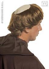 Brown Hair Monk Monks Wig With Bald Spot Vicar Fancy Dress