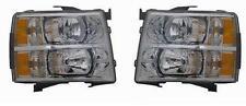 07 08 09 10 11 12 Chevrolet Silverado Headlight Pair Set Both NEW Headlamp LH RH