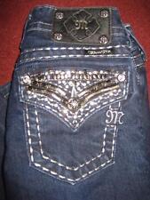 MISS ME JE5489T3R STRAIGHT LEG Jeans w/ JEWELS....Size 23x25.5