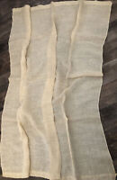 Lovely Antique French Linen Curtain Panel Farmhouse Cottage