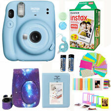 Fujifilm Instax Mini 11 Camera Sky Blue + 20 Fuji Film Deluxe Accessory Bundle