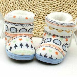 Boy Girl Warm Snow Boots Newborn Toddler Baby Infant Faux Fur Slipper Crib Shoes