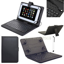 """US For Samsung Galaxy Tablets 7"""" 8"""" 10.1"""" Micro USB Keyboard Leather Case Cover"""