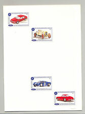 Antigua #1736-1741 Automobiles, Ford, Mercedes 4v & 2v S/S Imperf Proofs