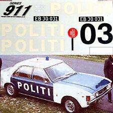 Ford Granada Politi Denmark 1974 Motorway Police Polizei Cars 1:43 Decal Abziehb