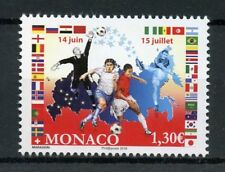 Monaco 2018 MNH World Cup Football in Russia 1v Set Flags Soccer Sports Stamps