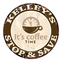 CWSS-0450 KELLEY'S STOP&SAVE Coffee Sign Birthday Mother's Day Gift Ideas