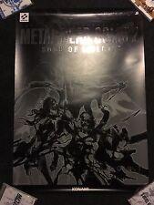 RARE Metal Gear Solid 2 Sons of Liberty 'Deadcell' Promo Poster B2 Shinkawa