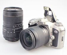 NIKON N75 35mm SLR film camera & 28-80mm,100-300mm Zoom lens