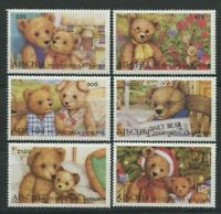 Teddy Bears mnh set of 6 stamps Abkhazia