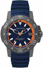Men's Nautica Edgewater Blue Silicone Band 45mm Watch NAPEGT003