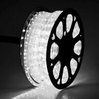 DELight® 150' Cool White 2 Wire LED Rope Light Home Party Xmas In/Outdoor Decor.