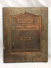 Vtg B F Goodrich Cordial Business Relations Plaque R E Benson & Sons Copper 1943