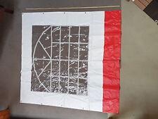 Ersatzteil für Partyzelt Seitenplane Rot weiss 2x2 m PVC