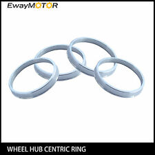 4PC Alloy Aluminum Wheel Spigot Spacers Hub Centric Rings 73.1mm OD to 67.1mm ID