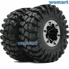 2pc 2.2 Rock Crawler Tires Tyre 139mm & 2.2 Beadlock Wheels Rim Fit RC 4WD Axial