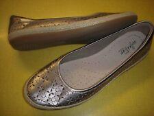 Clarks Danelly Art Leather Slip-On Espadrille Ballet Flats Women's 8 M Pewter ~