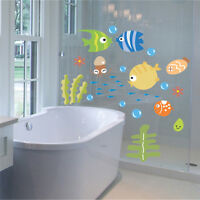 Cartoon Fish Sea Bubble Ocean World Removable Wall Sticker Decal Baby  Decor SK
