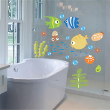 Cartoon Fish Sea Bubble Ocean World Removable Wall Sticker Decal Baby  Decor YJ