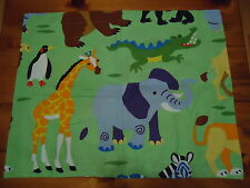 Childrens Std Sham Zoo Or Safari Animals Elephant, Giraffe, Penguin & Crocodile