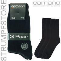 15 Paar CAMANO SOCKEN COMFORT Baumwolle Gr. 43 44 45 46 43-46 schwarz Art. 3403