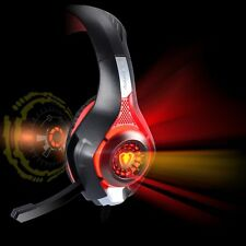 Wired Gaming Headset Headphone for Ps4 FORTNITE Xbox One X Bass Stereo Mic UK