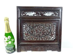 Fine Antique Rosewood Hand Carved Chinese Scholars Screen China c1920s