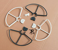 WHITE/BLACK SNAP ON/OFF PROP GUARDS QUICK RELEASE DJI PHANTOM 1 2 3 All Version