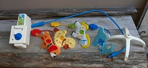 Vintage 82 Fisher Price Musical Colorful Dancing Farm  Animals Crib Mobile