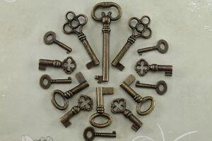Vintage Style Open Barrel Skeleton Key Furniture Cabinet -Assorted (Lot of 15)