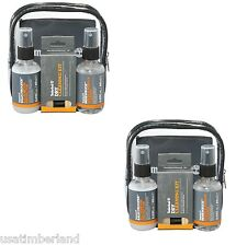 LOT X 2 Timberland Boot Care 4pcs Travel Kit SUEDE NUBUCK SHOE CLEANER SET Pc026