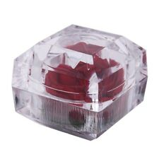 Acrylique Boite Ecrin Coffret a Bague avec Rose Rouge pour Mariage Annivers V4P2