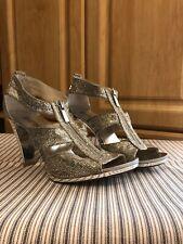 MICHEAL KORS Women Heels SILVER size 7.5