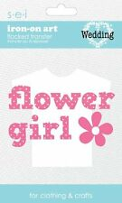 SEI 3.3-Inch by 5-Inch Flower Girl Iron on Transfer  B102