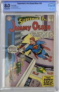 Superman's Pal JIMMY OLSEN 39 CBCS 8.0 DC 1959 2nd Highest Graded Only 1 Higher