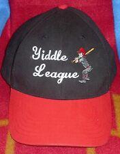 Yiddle League Black / Red By Dog Daze Black Label Hat Adjustable Back