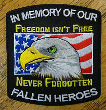 In Memory Freedom Isn't Free Fallen Heroes Embroidered Patch Military Flag