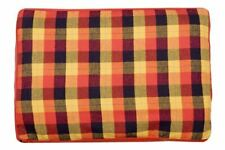 Creature Clothes - Dog Bed Cover - Autumn Check/Red Fleece - Handmade in the UK