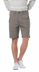 "Levis Straight Chino Linen Shorts ""Black Chambray"" NWT $50 All Sizes NWT TAGS"